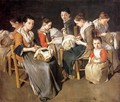 Women Working on Pillow Lace (The Sewing School) - Giacomo Ceruti (Il Pitocchetto)