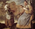 Little Beggar Girl and Woman Spinning - Giacomo Ceruti (Il Pitocchetto)