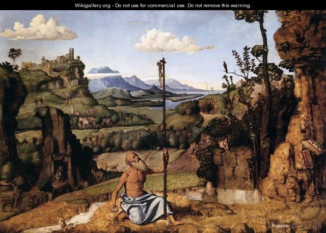 The Penitent St Jerome in the Wilderness - Giovanni Battista Cima da Conegliano
