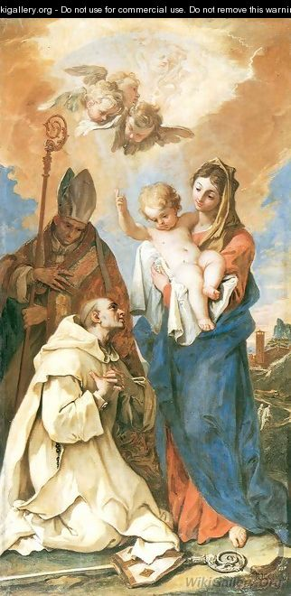 Appearance of Madonna with Child to St Bruno and St Hugo - Sebastiano Ricci