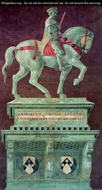 Equestrian Monument to Sir John Hawkwood - Paolo Uccello