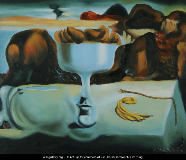 Apparition of Face & Fruit Dish - Salvador Dali (inspired by)