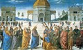 Delivery of the Keys to Saint Peter - Pietro Vannucci Perugino