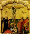 Banner with the Crucifixion and Six Saints, detail - Paolo Veneziano