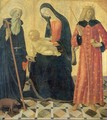 Madonna and Child with Saint Anthony Abbot and Saint Sigismund - Neroccio di (Neroccio da Siena) Landi