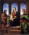Madonna and Child with Saints Onofrius and Augustine - Piero Di Cosimo