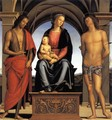 Virgin and Child with Saint John the Baptist and Saint Sebastian - Pietro Vannucci Perugino