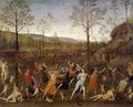 Combat of Love and Chastity - Pietro Vannucci Perugino
