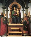 Virgin and Child Enthroned with Saints - Pietro Vannucci Perugino