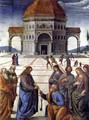 Delivery of the Keys to Saint Peter, detail - Pietro Vannucci Perugino