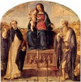 Madonna and Child with Saints Dominic and Jerome - Piero Di Cosimo