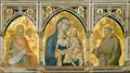 Assisi Frescoes Madonna and Child between Saints - Pietro Lorenzetti