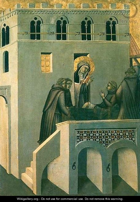 Humilitas Heals the Foot of the Monk - Pietro Lorenzetti