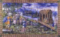 Tile depicting the Story of Noah Embarking in the Ark - Masseot Abaquesne