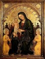 Madonna with Child and Two Angels - Gentile Da Fabriano