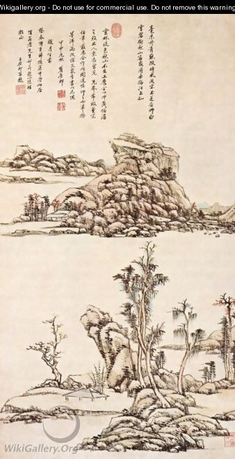 River scenery in the form of Ni Tsan - Yuan-Chi Wang