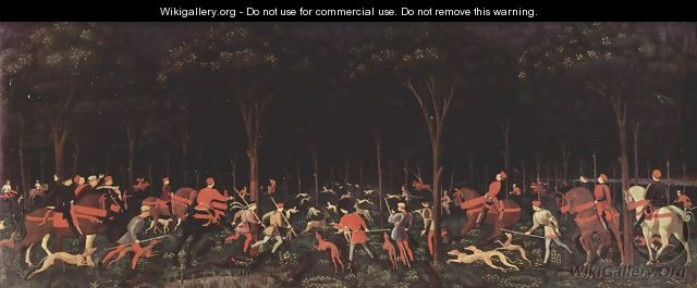 Hunting at night - Paolo Uccello