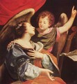 St. Cecilia with an angel - (after) Simon Vouet
