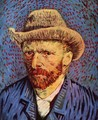 Self Portrait with Grey Felt Hat 2 - Vincent Van Gogh