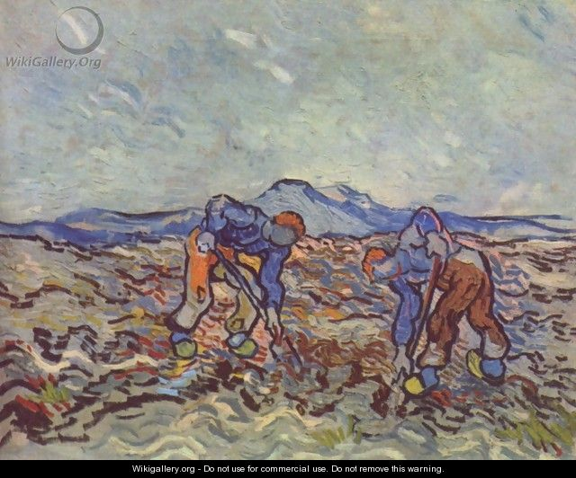Farmers at work - Vincent Van Gogh