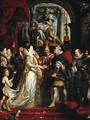 Paintings for Maria de Medici, Queen of France, scene wedding of Henry IV and Maria de Medici in Florence - Peter Paul Rubens