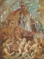 Paintings for Maria de Medici, Queen of France, sketch, scene arrival of Marie de Medici in the port of Marseille - Peter Paul Rubens