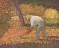 Farmer with hoe - Georges Seurat