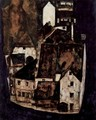 Dead city or town at the blue river - Egon Schiele