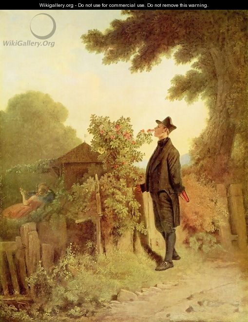 Rose scent remembrance - Carl Spitzweg
