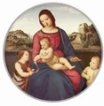 Madonna Terra Nuova, Scene Mary with Christ Child with two Saints, Tondo - Raphael