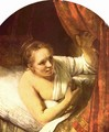 Young woman in bed (possibly Geertje) - Rembrandt Van Rijn