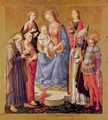 Mary with the Child and six saints - Francesco Pesellino