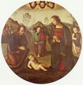 Birth of Christ, Tondo - Pietro Vannucci Perugino