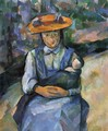Girl with doll - Paul Cezanne