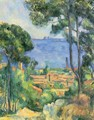 View of L'Estaque and the Chateau d'If (The Sea at L'Estaque) - Paul Cezanne