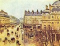 Avenue de l'Opera, Paris in the rain - Camille Pissarro