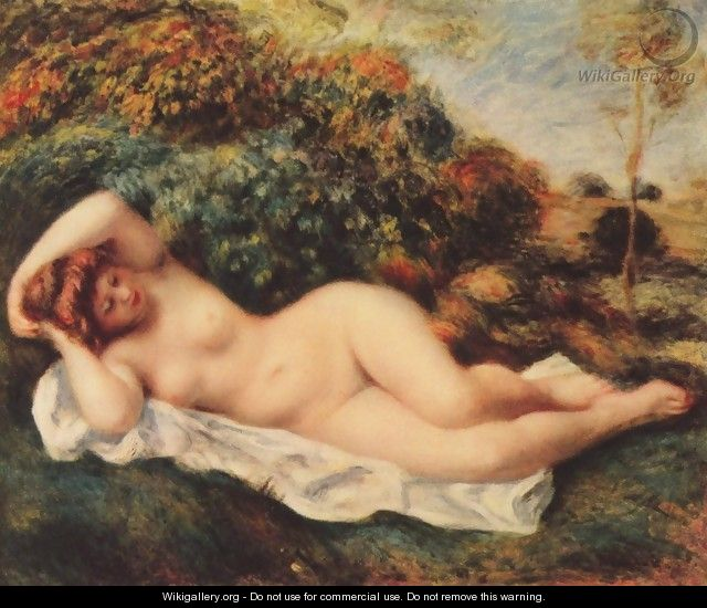 Bathing, sleeping (Badende, schlafend - Die Backerin) - Pierre Auguste Renoir