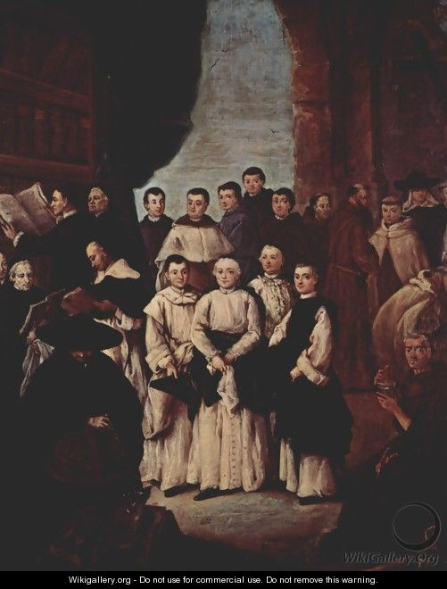 Group photo of Venetian Monks, canons and members of Venetian confraternities - Pietro Longhi
