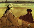 Sur la Plage on the beach - Edouard Manet