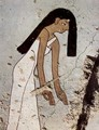 Grave chamber of Minnacht, Scene death rituals, detail leader of the mourning women - Egyptian Unknown Masters