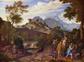 Landscape with the scouts from the promised land - Joseph Anton Koch