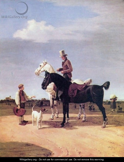 Riders with two horses - Wilhelm Von Kobell