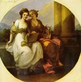 The poetry embraces painting, Tondo - Angelica Kauffmann
