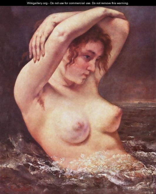 The Bather - Gustave Courbet