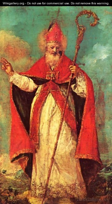 Blessing of St. Nicholas - Francesco Guardi
