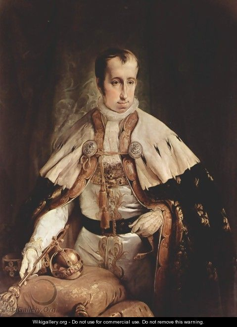 Portrait of the Emperor Ferdinand I of Austria - Francesco Paolo Hayez