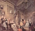 Theater performance of children in the house of John Conduit - William Hogarth