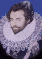 Portrait of Sir Walter Raleigh, Oval 2 - Nicholas Hilliard