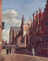 The Great Market in Haarlem, as seen from the Rue Royale next to City Hall - Gerrit Adriaensz Berckheyde