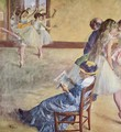 During the dance classes at madame Cardinal - Edgar Degas